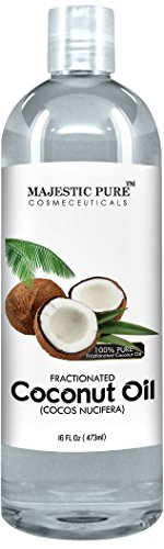 Majestic Pure Fractionated Coconut Oil, For Aromatherapy Relaxing Massage, Carrier Oil for Diluting Essential Oils 16 fl Oz.