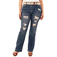 Wallflower Plus tamaño Belted legendario Bootcut Jeans