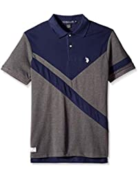 Men's Short Sleeve Slim Fit Fancy Pique Polo Shirt