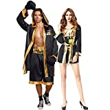 Halloween Couple Models Boxing Fighters Suits Cosplay Game Stage Performance Clothing,Men
