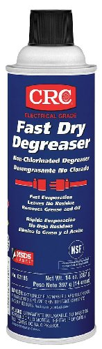Degreaser Aerosol (CRC Fast Dry Liquid Degreaser, (Net weight: 14 oz.) 15 oz Aerosol Can, Clear)
