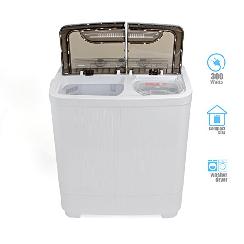 portable compact washer and spin dry cycle with built in pump import it all. Black Bedroom Furniture Sets. Home Design Ideas