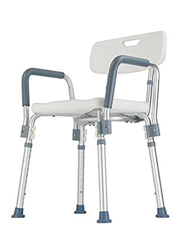 Superbe Shower Chair With Backrest And Armrest (Easy To Assemble, No Tools Needed,  New