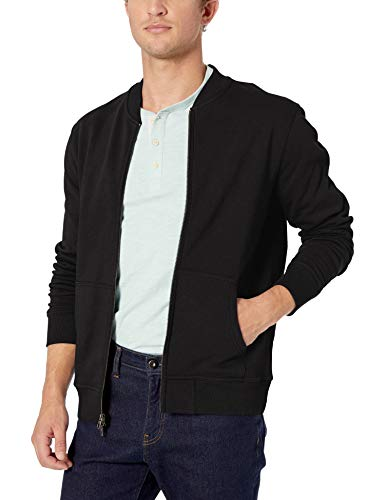 Goodthreads Men's Fleece Bomber, Black Medium Tall