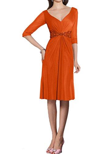Ivydressing -  Vestito  - linea ad a - Donna Orange-Kurz 44