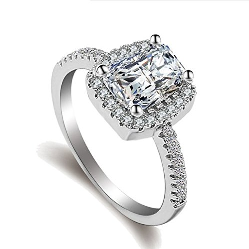 925 Sterling Silver design personalized zircon ring