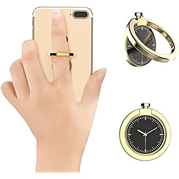 Ring Holder For Phone, KOOLSEN Ring Grip Kickstand for Cell Phone iPhone 7 7 Plus 6S 6 5S,ipad Tablet Fit For Magnetic Car Mount, Zinc Alloy 360° Rotation Finger Ring stand For Cell Phone (Gold)