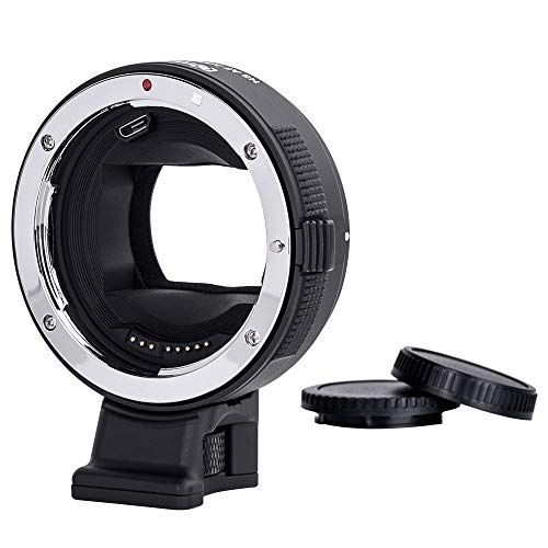 Lens Camera Adapter - Commlite Canon EF/EF-S Lens to Sony E-Mount Cameras High-Speed Electronic AF Lens Adapter for Sony A7 A9 A7II A7RII A7RIII A6000 A6300 A6500 (V22 Version)