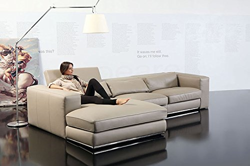 Calia Maddalena–Sofa Klassische Komfort Forma, Cuir Série Pitone Vert, 2 places avec 2 dossiers pliables - 200x97x105cm