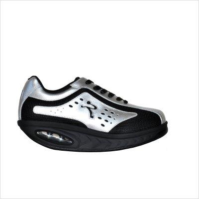 Ryn Nazca Sympatex Walking Shoes - Unisex (9 (M) US Women's / 8 (M) Men's US, Black/Silver) (Ryn Fashion Men)