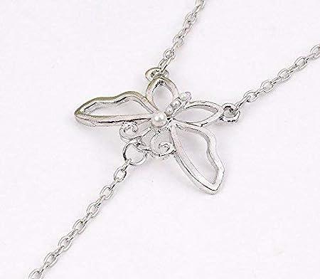 1pcs or papillon boh/ème fleur forme de vigne strass Bracelet incrust/é avec anneau main ornement cha/îne poignet doigt li/é bracelet pour la mode
