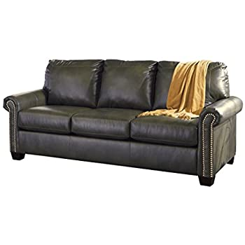 Ashley Furniture Signature Design - Lottie Sleeper Sofa - Queen Size - Slate