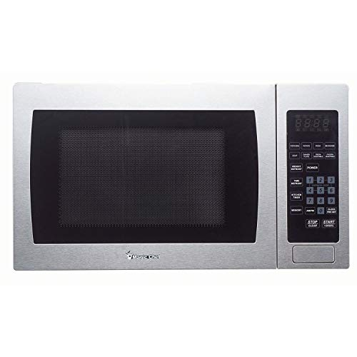 (Magic Chef Cu. Ft. 900W Countertop Oven Front MCM990ST 0.9 cu.ft. Microwave Stainless Steel.9)