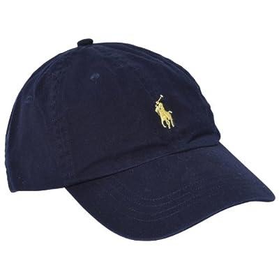 Polo Ralph Lauren Men Pony Logo Adjustable Sport Hat Cap (One size, Navy) by Polo Ralph Lauren