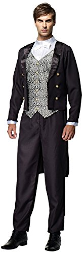 HGM Costume Men's Uptown Gentleman, Black/White/Silver, (The Town Movie Costumes)