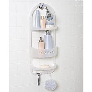 Over Shower Caddy Bathroom Holder Plastic Organizer Shampoo Soap Razor Rack  NEW By Storage