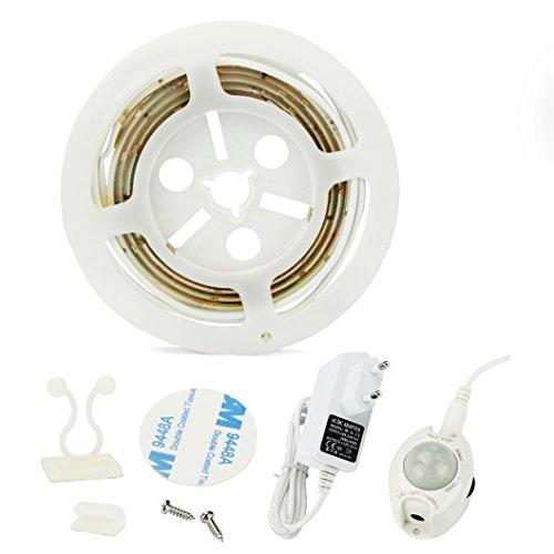 Tira de luz LED para cama, se activa con el movimiento, encendido/apagado automático, detector de movimiento, lámpara de noche: Amazon.es: Iluminación