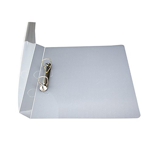 ZYWJUGE 1 Inch Ring Binder, Basic Round Ring View Binder (A4 - 2 D Holes)