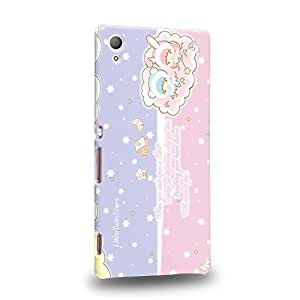 Case88 Premium Designs Little Twin Star Kiki And Lala Dreamy Diary 1335 Carcasa/Funda dura para el Sony Xperia Z3+ / Z4 (No tableta !)
