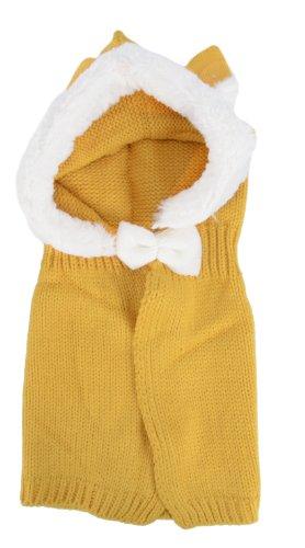 Simplicity Baby Crochet Knit Hat Cape, Yellow Rabbit Ear