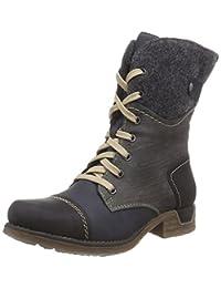 Rieker Women Ankle Boots grey, (schwarz/pazifik/fumo) 79624-00