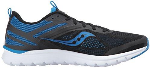 Mens Saucony Miles Course-chaussures Bleu / Noir