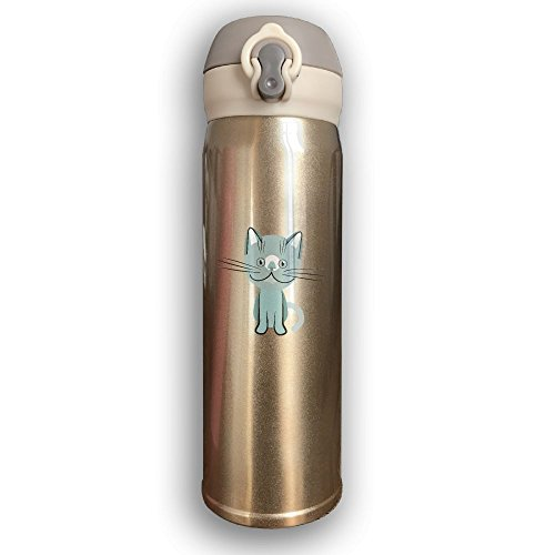 Blue British Shorthair Cat Portable Rustless Thermos,Outdoor Space Bottle