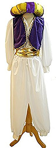 Theatrical Costumes Uk (Stage-Panto-World Book Day-Aladdin-NEW! GENIE OF THE LAMP with DOUGHNUT HAT Ladies Fancy Dress Costume - All Adult Sizes (MENS XXL))