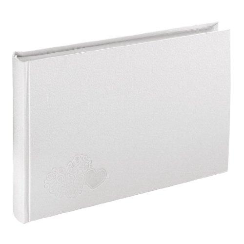 Hama Gästebuch Hochzeitsalbum Venezia, 30 x 20 cm, 120 Bilder, 60 weiße Seiten (25 Blatt), weiß