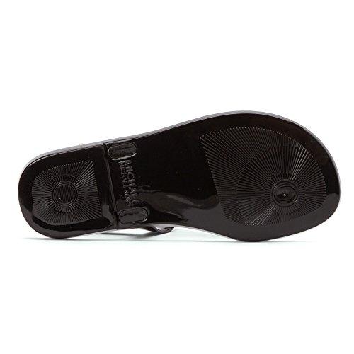 MICHAEL Michael Kors Women's Sondra Jelly Sandal (Black, 9)
