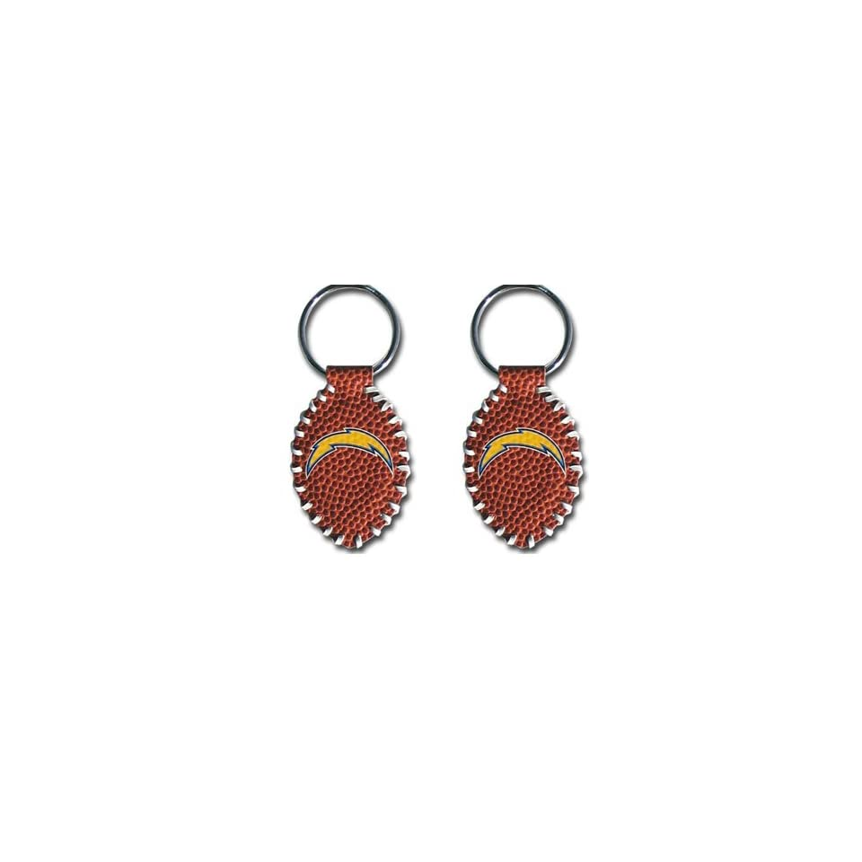San Diego Chargers   NFL Stitched Football Shape Key Ring (2 Pack)