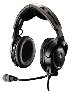 Bose® A20 Aviation Headset (Battery-powered w/Bluetooth, Electret mic, Straight cord, Helicopter U-174 plug)