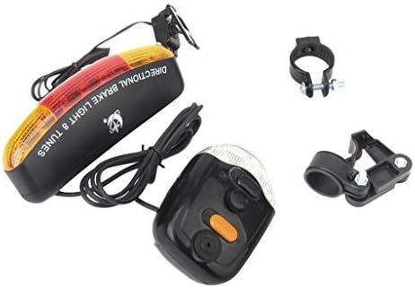 7-LED luz intermitente fuego de frenos/ /Bocina de 8/melod/ías para bicicleta