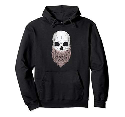 Bearded Skull - Halloween Costume Idea Pullover Hoodie -