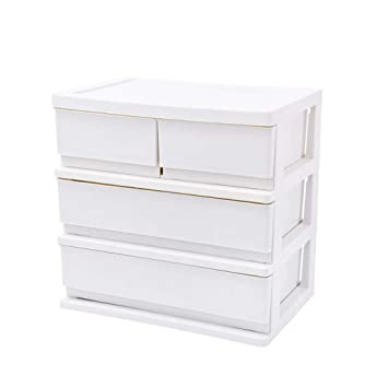 Archivadores HUXIUPING Storage Box Office Storage Office Desktop Racks Almacenamiento en la Mesa Rack File Stationery Desk Drawer (Color : Blanco): ...