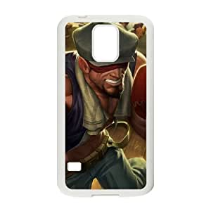 Samsung Galaxy S5 Phone Case Cover White League of Legends Knockout Lee Sin EUA15973959 Uncommon Cell Phone Case