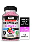 Kaya Naturals Adult Multi Vitamin Gummy, 60 Count, Biotin, Vitamin A, C & E, Including Zinc &Vitamin B-12, Folic Acid, Strawberry Flavor (60 Gummies)