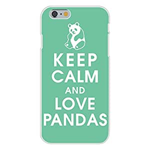 Apple iPhone 6 Custom Case White Plastic Snap On - Keep Calm and Love Pandas on Green