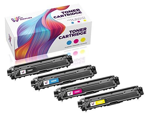 AZ Compatible with Brother TN221/TN225 (TN221BK, TN225C, TN225M, TN225Y) 4 Color Set High Yield Toner Cartridge for HL-3140, HL-3140CW, HL-3170CDW, MFC-9130, MFC-9130CW, MFC-9330, MFC-9330-CDW