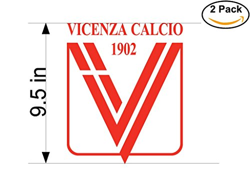 Vicenza Italy Soccer Football Club FC 2 Stickers Car Bumper Window Sticker Decal Huge 9.5 inches by CanvasByLam