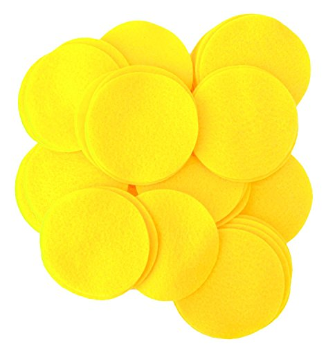 Playfully Ever After 5 Inch Yellow 18pc Felt Circles