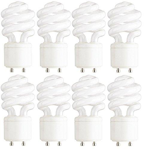 Dysmio Lighting - 13 Watt Mini-Twist CFL Light Bulb 2700K Soft White GU24 Base, 8-Pack