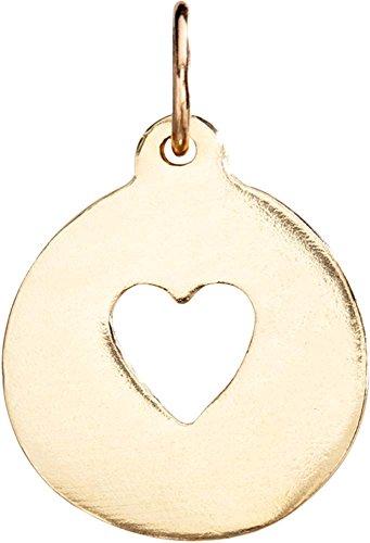 Cut Out Heart Charm (Helen Ficalora Heart Cutout Charm Yellow Gold)