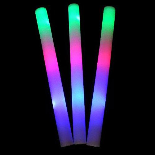 Fantastic Deals Pack of 48 LED Foam Multicolor Lightstick Batons Bulk Party Concert Rave Light Up -