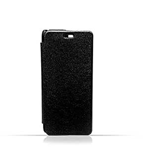 Samsung A3 2016 / A310 Black Frosted PU Leather Flip Cover