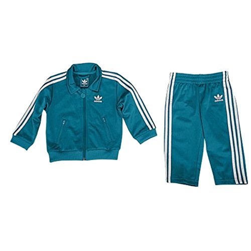 adidas Kids' Infants Firebird TS Power Vivid Teal/White Z31965 (SIZE: 4TOD) (Adidas Originals Tracksuit Women)