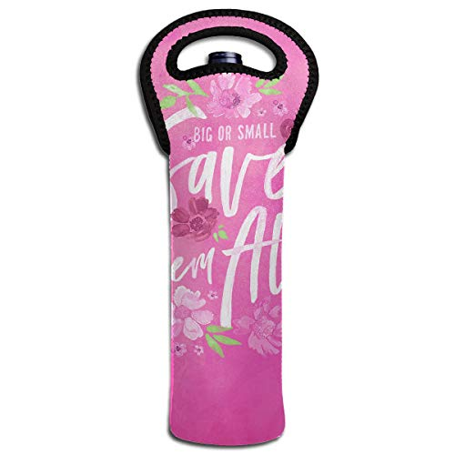 YYH Single Wine Tote Bag,Insulated Padded Thermal Wine Bottle Carrying Cooler Carrier for Travel,Save Them All