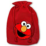 Shanweiyihemaoyi Elmos World Running Christmas Drawstring Gift Bag Personalized Santa Sack for Holiday Favors