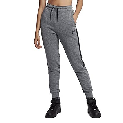 70c8dbc2694497 Nike Damen W NSW Tech Fleece OG Trainingshose Karbon Heidekrautgrau Schwarz  M
