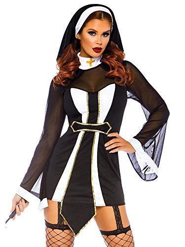 Leg Avenue Womens Twisted Sister Sexy Nun Costume,